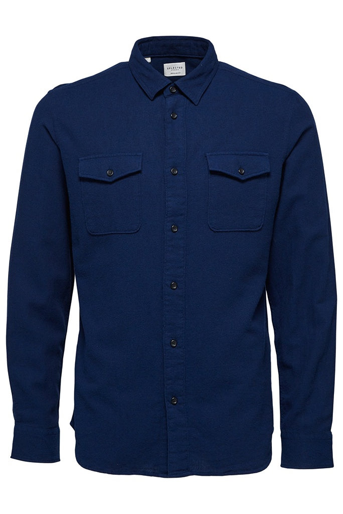 Selected Homme Worker Shirt - Night Sky