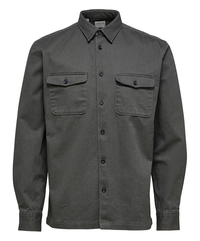 Selected Homme Loose Owen Overshirt - Beluga