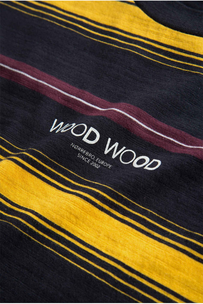 Wood Wood Perry Stripe T-Shirt - Yellow