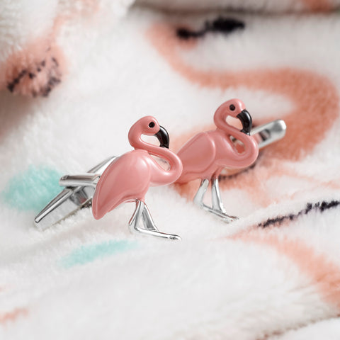 Flamingo Bird Cufflinks