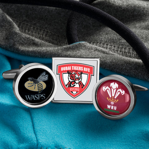 Personalised Rugby Club Emblem Cufflinks