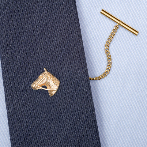Gold 9ct Horse Tie Tack