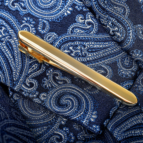 Curved End Gold Classic Tie Bar