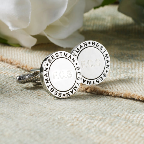 Personalised Best Man Eternal Wedding Cufflinks