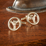 9ct Gold Steering Wheel Cufflinks