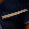 9ct Gold Engraved Initial Tie Bar