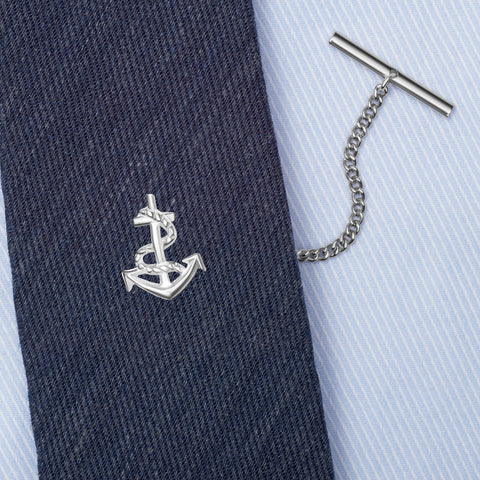 Sterling Silver Anchor Tie Tack