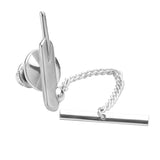 Sterling Silver Cricket Bat & Ball Tie Tack