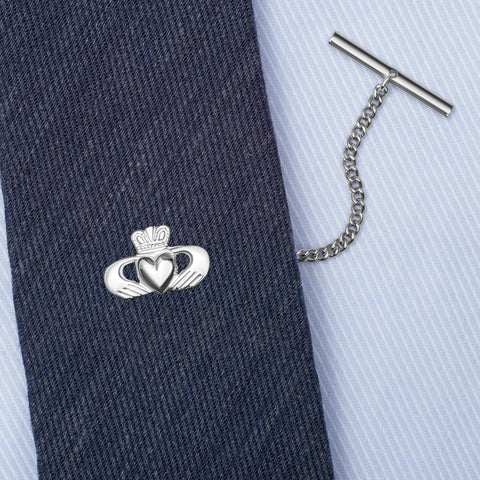 Sterling Silver Irish Claddagh Tie Tack