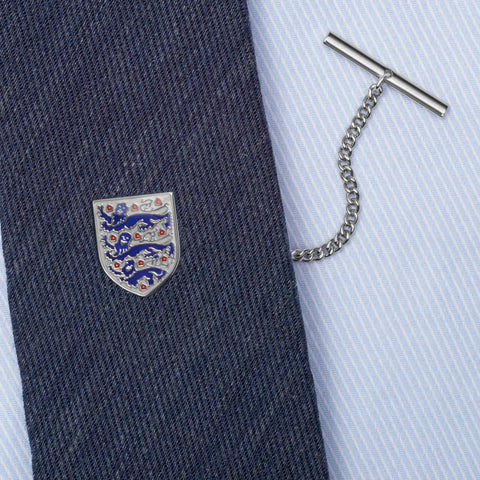Sterling Silver 3 Lions Shield Tie Tack