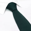 Dark Green Knitted Square Cut Silk Tie