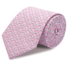 Pink Elephant Luxury Printed Silk Tie