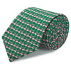 Emerald Green Flamingo Luxury Printed Silk Tie