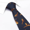 Navy Flying Pheasants Silk Tie