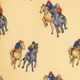 Yellow Printed Horse Racing Silk Tie