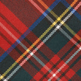 Classic Red Tartan Polyester Wool Tie