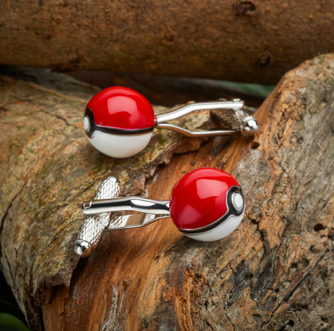 Pokemon Poke Ball Cufflinks