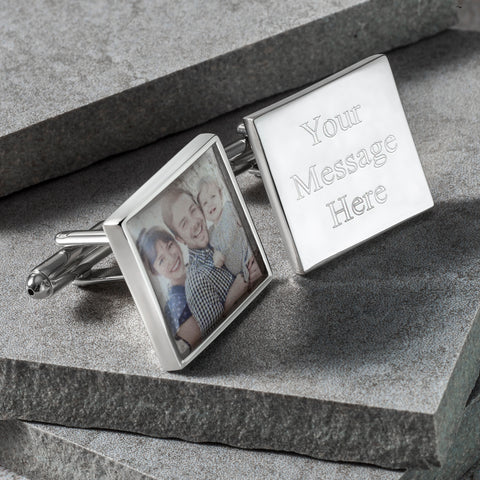 Photo Engraved Square Cufflinks