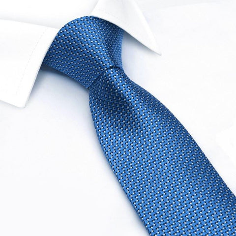 Electric Blue Micro Dot Woven Silk Tie
