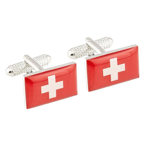 Swiss Flag Cufflinks