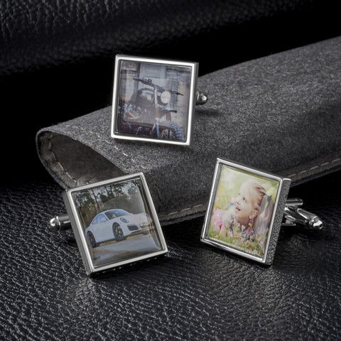 Personalised Square Photo Cufflinks