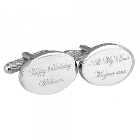 Happy Birthday Engraved Cufflinks