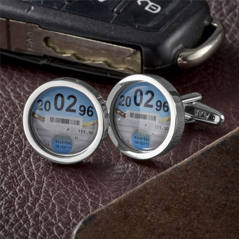 Personalised Car Tax Cufflinks