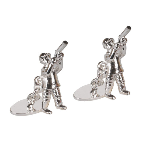Silver Plated Shooting Chain Cufflinks