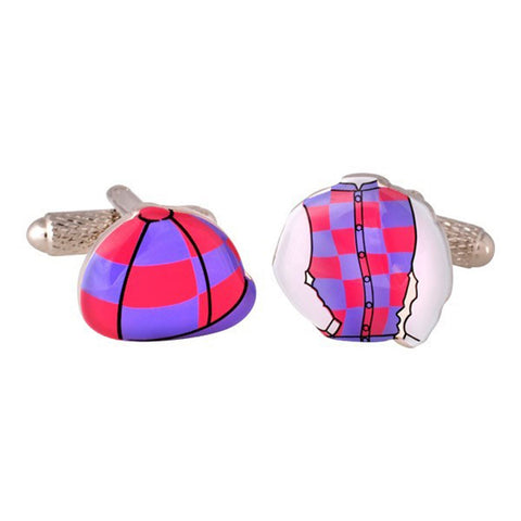 Pink & Purple Jockey Kit Cufflinks