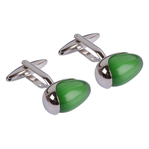 Green Stone Egg Cufflinks