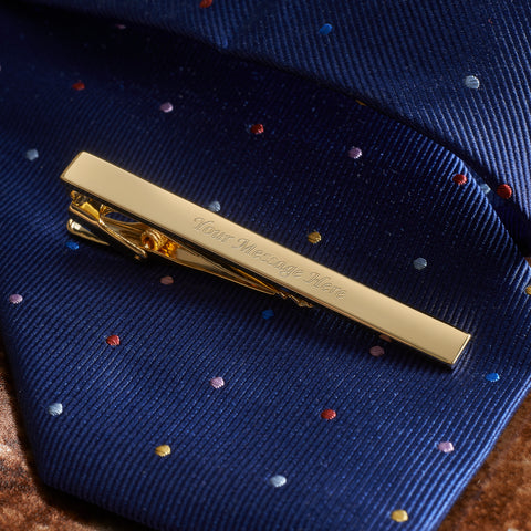 Plain Gold Tie Bar Engraved