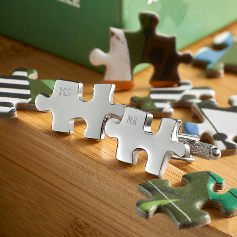 Personalised Jigsaw Cufflinks