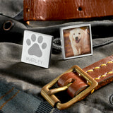 Personalised Pawprint Name & Photo Cufflinks