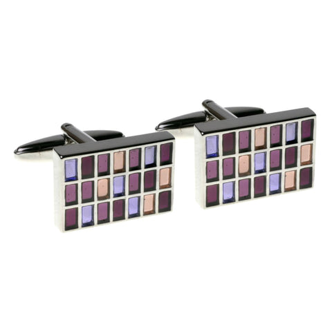 Mixed Purple Cufflinks