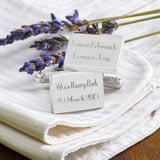 Names, Venue & Date Wedding Cufflinks