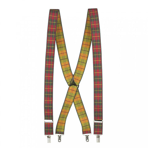 Luxury Red Tartan Braces