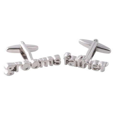 Silver Grooms Father Cufflinks