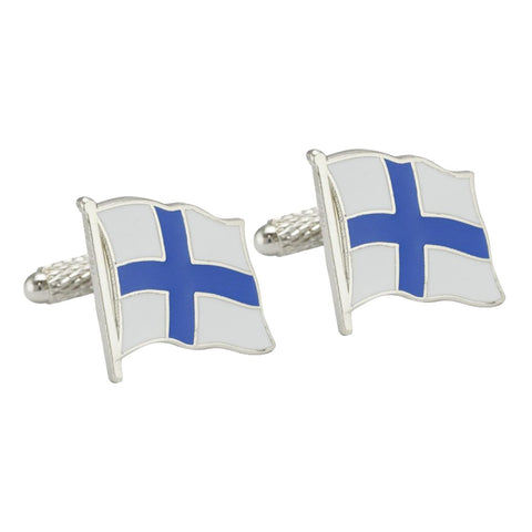 Finnish Flag Cufflinks