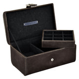 Jacob Jones Grey Cambridge Watch & Cufflink Box