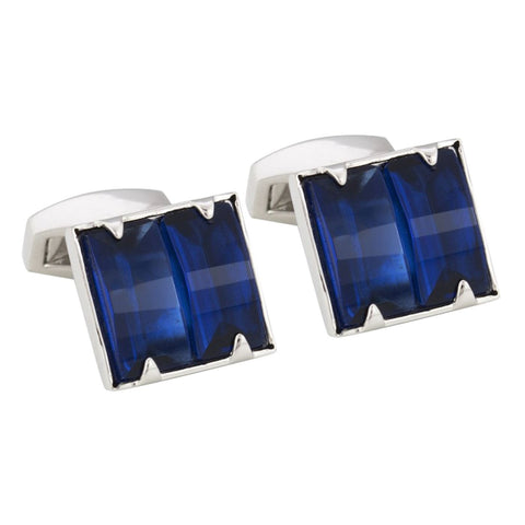 Sapphire Crystal Square Cufflinks