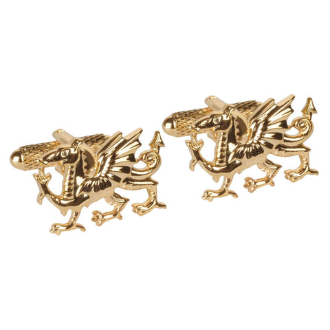 Gold Plated Welsh Dragons