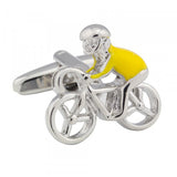Yellow Jersey Cyclist Cufflinks