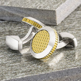 Silver and Gold Lattice Cufflinks
