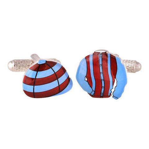 Purple & Blue Jockey Kit Cufflinks