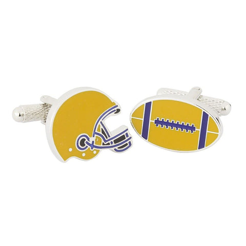 American Football Helmet & Ball Cufflinks