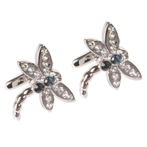 Dragonfly Crystal Cufflinks