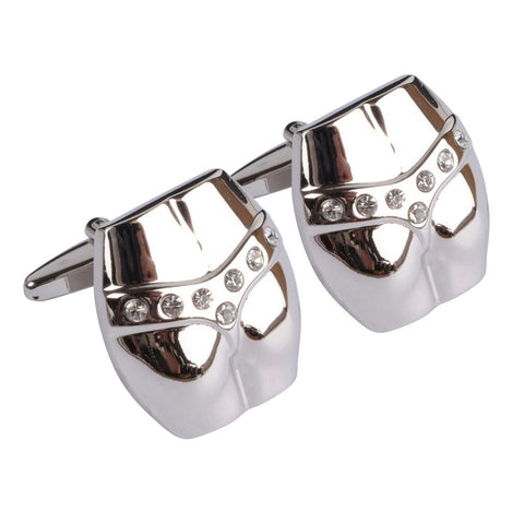 Crystal Thong Cufflinks