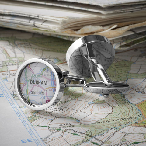 Personalised Map Cufflinks