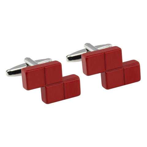 Red Tetris Block Cufflinks