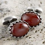 Red Filigree Cufflinks